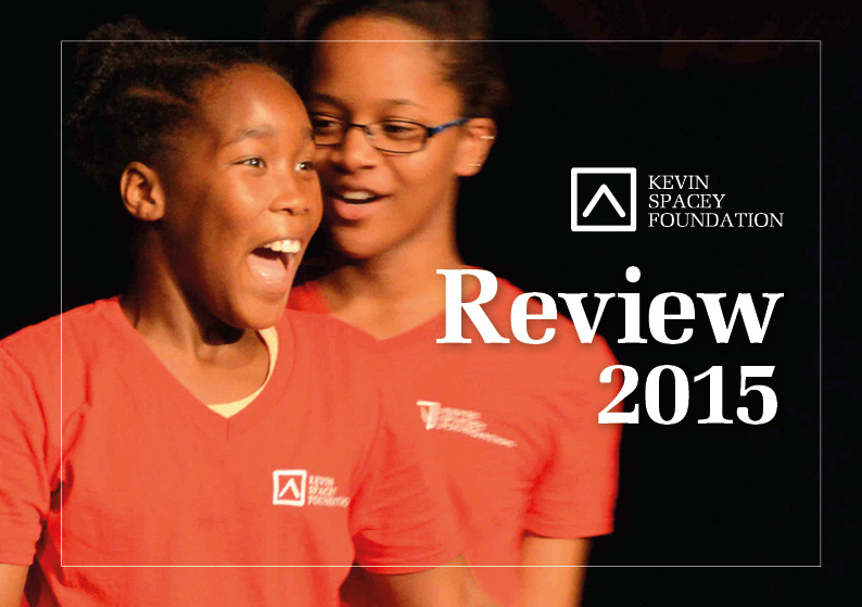 Kevin Spacey Foundation Review 2015 redesign front cover